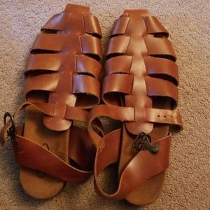Rockport Brown Womens Sandals Size 9W